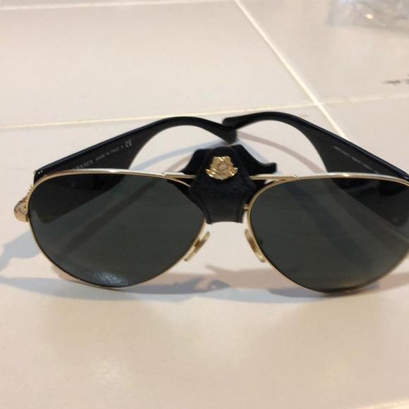d300bf201b6d Versace Accessories - VERSACE Sunglasses Gold   Black Aviator Frames